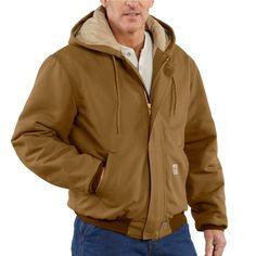 Carhartt Men's Flame-Resistant Duck Active Jacket 101621 Carhartt Brown