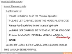When I heard there was going to be a musical episode this was exactly what I thought. He's gotta be the cause