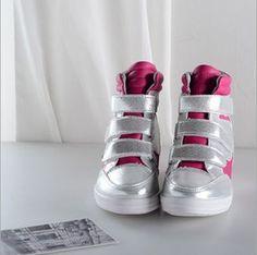 Beautiful Tidal range of Velcro-Sneakers  Sneakers (black,magenta,white,pu,pu) Sneakers from stylishplus.com