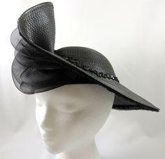 494e137cbb3 Gwenn Pennington Exclusive Vintage Poly Straw Hat Vintage Black Sequins  Ruffles  GwennPennington  Derby