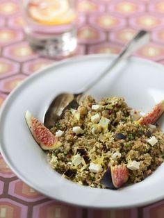 Salade de quinoa aux figues et chèvre : Recette de Salade de quinoa aux figues et chèvre - Marmiton