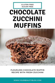 Healthy chocolate zucchini muffins recipe. These mini muffins are flourless and gluten free. Make healthy chocolate muffins for kids or for This easy and simple recipe has banana and sunflower seed butter and no flour. Use choc chips or use carb chips for no sugar and clean eating. This is the best recipes for healthy muffins. #chocolate #zucchini #healthy Zucchini Muffin Recipes, Healthy Muffin Recipes, Whole Food Recipes, Snack Recipes, Healthy Chocolate Muffins, Flourless Chocolate, Healthy Muffins, Carob Chips, Seed Butter