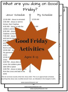 With Lent coming to a close in just a few weeks, Holy Week is around the corner! Here are a few Good Friday activities to help kids deepen their understanding and appreciation of what Jesus did for them on that day. Activities include: Good Friday Schedule – Jesus' and Mine The 7 Last Words – Things…