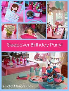 I love planning and putting together my kids birthday parties. This one was for my 7 year old. She has been dying for a sleepover with. Fun Sleepover Games, Sleepover Crafts, Sleepover Birthday Parties, Girl Sleepover, Fun Games, Spa Party, Neon Party, 7th Birthday, Birthday Ideas