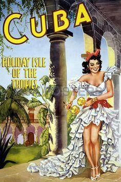 #Cuba Vintage Travel Poster