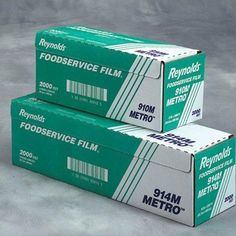 "Reynolds 914M 2000' Length x 18"" Width, Metro Line PVC Food Wrap Film by Reynolds. $25.71. 914M  Features: -Film roll.-Material: Plastic.-Food wrap in cutter box.-Easy and economical to use.-For short-term use, including wrapping of cold foods.-Cutter box features low-profile precision metal edge mounted on sturdy insert.-Feet per roll: 2000'. Color/Finish: -Color: Clear. Dimensions: -Width: 18''.. Save 62%!"