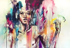 """the nothing life"" by (=agnes-cecile) acrylic on canvas 100 x 70 cm #art #painting #paint"
