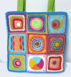 Crochet Granny Square Patchwork Bag