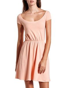 Cap Sleeve Cotton Skater Dress: Charlotte Russe  cute and simple.