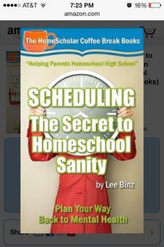Scheduling: The Key to Homeschool Sanity - 2 stars.  No new info.