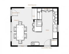 Kitchen Dining Room Design Layout 18 Best Floor Plans Images On Pinterest Photos