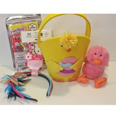 Add Your Own Candy Chick Easter Basket, Mini Chick - Girl