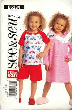 ee6daad3ca0c53 Items similar to Girls Dress Patterns -Child s Top Dress Shorts Pattern See    Sew B5234 Size ( 2-3-4-5) Uncut Rare on Etsy
