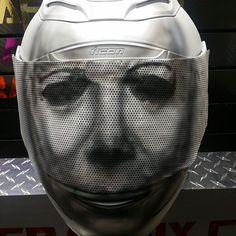 Custom Airbrushed Motorcycle Helmet by Airgraffix.com 191