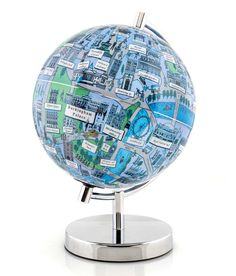 The whole of London on one globe. London Globe from Globee Globe Art, Map Globe, London Night, London City, Globe Crafts, Going To University, World Globes, Gift Wrapping Services, New City
