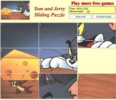 Sliding Puzzle of Tom and Jerry