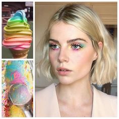 Wearing neon eyeshadow is easier than it looks. Here are five ways to wear the trend, including the best neon eyeshadows and eyeliners to wear now. Hair And Makeup Tips, Eye Makeup Tips, Glam Makeup, Makeup Cosmetics, Beauty Makeup, Makeup Trends, Makeup Art, Makeup Ideas, Sombra Neon