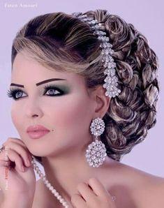 Makeup bride bridal makeup hair updo style beauty arabic makeup and hairstyles