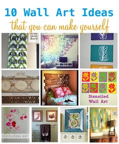 10 Wall Art Ideas That You Can Make Yourself