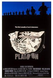 Platoon starring Tom Berenger, Charlie Sheen, Willem Dafoe, and Forest Whitaker; directed by Oliver Stone Tom Berenger, Oliver Stone, Charlie Sheen, Great Films, Good Movies, Platoon Movie, Best Picture Winners, Forest Whitaker, War Film