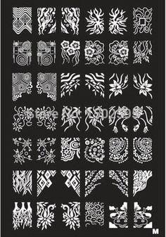 Az série de aço série de selo polonês Stamping Nail Art placa de batedor de impressão para Stamping alishoppbrasil