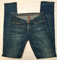 Women's EARNEST SEWN Harlan Hyper Dark Stretch Denim Skinny Jeans 27 #EarnestSewn #SlimSkinny