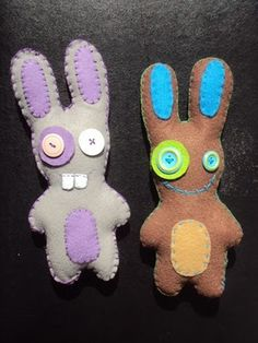 I am looking for Felt creature ideas for my boys. These are cute.