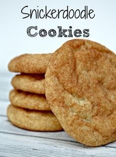 Who doesn't love a good Snickerdoodle Cookie?  This recipe is outstanding.  A little crispy on the outside soft on the inside.