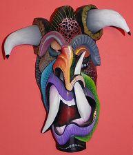 'Diablo Mask' by Santos Lazaro at [Mango-Tango.net Tribal Masks] Sculpture Art, Sculptures, Mask Dance, Totems, Tango, Masquerade, Masks, Halloween, Disney Characters