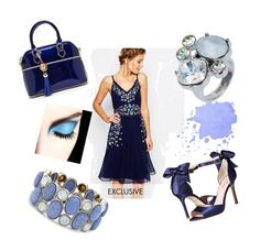"""A splash of blue"" by tholliscole on Polyvore featuring Frock and Frill, Kate Spade, Nadia Minkoff and Chico's"
