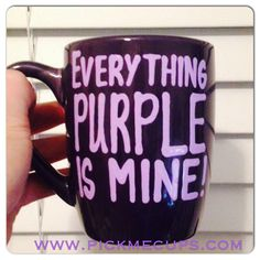 The Power of Purple by Candice P on Etsy Purple Love, All Things Purple, Oh My Love, Thats Not My, My Favorite Color, My Favorite Things, Purple Bedrooms, Purple Themes, Diy Tumblers