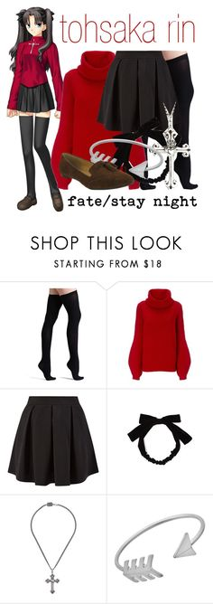 """""""[Fate/Stay Night] Tohsaka Rin - Casual Outfit"""" by animangacouture ❤ liked on Polyvore featuring Commando, MANTU, Cameo Rose, King Baby Studio, Blu Bijoux and MIA"""