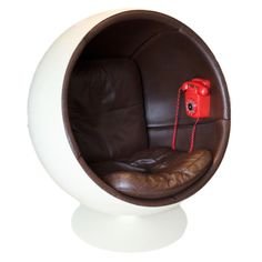Extreme rare Ball chair by Eero Aarnio made by Asko. | From a unique collection of antique and modern lounge chairs at http://www.1stdibs.com/furniture/seating/lounge-chairs/