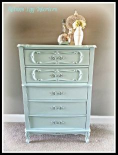 French Provincial Chest of Drawers Makeover By Robin's Egg Interiors - Featured On Furniture Flippin' - www.FurnitureFlippin.com