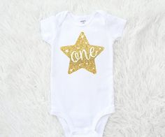 Sparkle First birthday bodysuit Twinkle twinkle by SofSBoutique