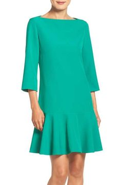 Eliza J Drop Waist Knit Dress (Regular & Petite)