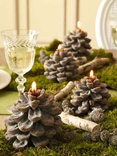 Beautiful tablescape! Next year I will have a burlap runner on my table loaded with pinecones, green moss, sticks and candles. Perhaps the center of it will hold a wooden deer...yes, I am already planning for the next year. ;-)