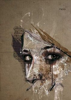 mixed media portrait    http://www.mymodernmet.com/profiles/blogs/mesmerizing-mixed-media
