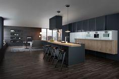 Wildhagen | Zwarte design Keuken van LEICHT met bar aan kookeiland