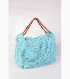 Bolso de rafia azul #fashion #moda #verano #venca