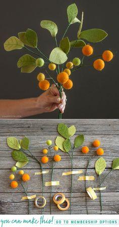 DIY Felt Billy Balls and Leaves - www.LiaGriffith.com - #feltcraft #feltbillyballs #feltflowers #feltleaves #feltpattern #DIyFelt #feltdiy #DIYflowers #DIyLEaves #Botanicals