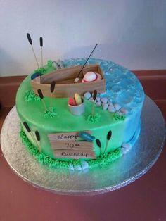 Birthday Cake Man Fishing Image Inspiration of Cake and Birthday