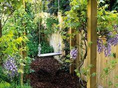 Schaukel Garten selbst bauen Platzsparende Ideen