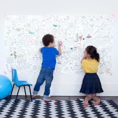 Clever deco for kids space. Coloromy 2 - Childrens colouring sheets designed by OMY Design & Play. Childrens Colouring Sheets, Coloring Sheets For Kids, Coloring Pages, Messy Room, Business For Kids, Kid Spaces, Kids Decor, Little People, Kind Mode