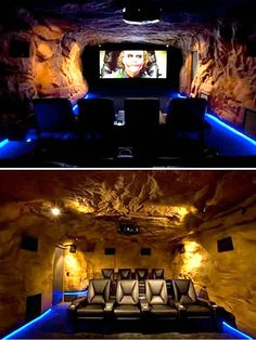 And yet another view of the Bat Cave. GREAT room to hunker down in after a long night out in Gotham!