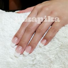 """nearly perfect #frenchnail #frenchstyle #nail #nails #nailart #fashion #cute #beautiful #love #girl #art #polish #nailswag #unhas #manicure #nailpolish…"""
