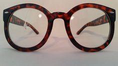 Vintage Retro Brown Sunglasses Round Style Womens two tone eyeglasses elegant   #Unknown #Round