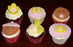 Baby girl cupcakes by Eva Rose Cakes