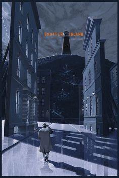 ► Shutter Island (Estados Unidos, de Martin Scorsese ► By: Laurent Durieux Retro Poster, Movie Poster Art, Martin Scorsese, Film Shutter Island, Laurent Durieux, Non Plus Ultra, Cinema Posters, Alternative Movie Posters, Retro Futuristic