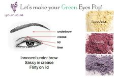 For green Eyes! Younique Products Fastest growing home based business! Join my TEAM!  Younique Make-up Presenters Kit! Join today for only $99 and start your own home based business. Do you love make-up?  So many ways to sell and earn residual  income!! Your own FREE Younique Web-Site and no auto-ship required!!! Fastest growing Make-up company!!!! Start now doing what you love!  https://www.youniqueproducts.com/KathysDaySpa